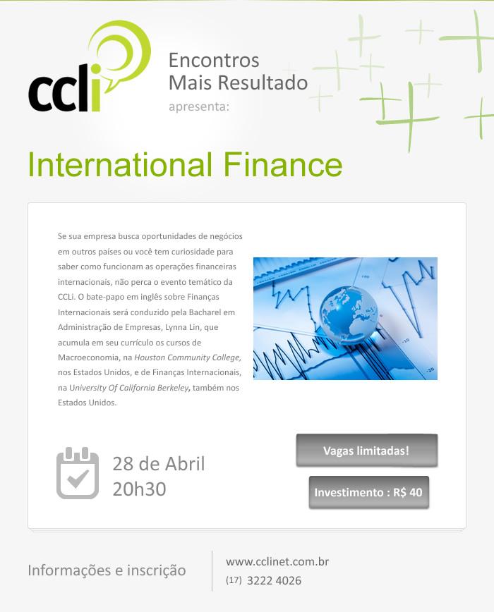 Encontros Mais Resultado: International Finance