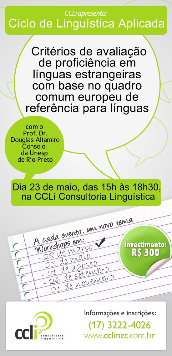 Segundo encontro do Ciclo de Linguística Aplicada será nesta sexta-feira (23/05)